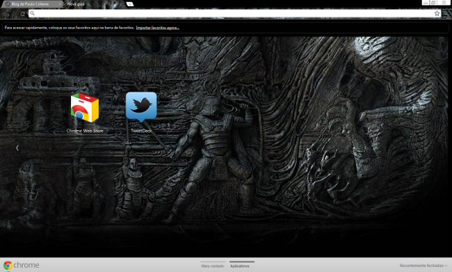 Tema do Skyrim para o Google Chrome