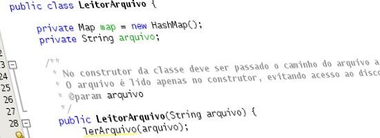 Leitor de Arquivo de Propriedades (Chave/Valor) em Java