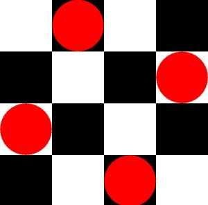Solução do problema das N-Rainhas com n=4